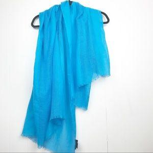 Steve Madden Blue Distressed hem scarf